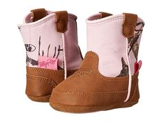 M&F Western Kids Baby Bucker Jobie (Infant/Toddler) Cowboy Boots Mossy Oak/Pink Crib Shoes, Baby Shoes, Toddler Cowboy Boots, Western Babies, Crocs Classic, Mossy Oak, Free Clothes, Boy Outfits, Baby Kids