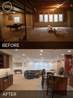 Wonderful Steve U0026 Elaineu0027s Basement Before U0026 After Pictures