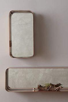 Industrial Mirror Shelf http://bit.ly/1Oy4eKP