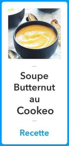 Recette Soupe Butternut au Cookeo, Recette Cookeo 20 Min, Cantaloupe, Bread, Fruit, Healthy, Soups, Club, Crochet, Cooking Recipes