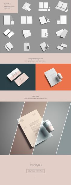 Advanced stationery and branding mockup template featuring photoshop smart object easy editing. Free & Premium version available for download.