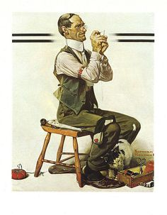 1922-Man Threading a Needle, Post cover---by Norman Rockwell by x-ray delta one, via Flickr