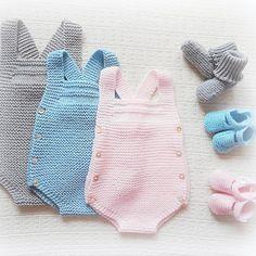 #baby #babyclothing #babyclothes #grey #babyromper #romper #babyknitwear #handmade #babygirl #yarn #instaknit #bebé #roupadebebé #blue…