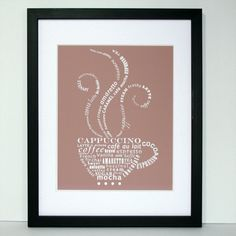 Coffee Talk #typography print.