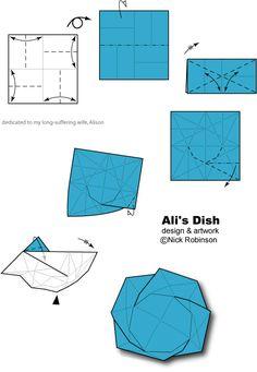 Ali's Dish by Nick Robinson - origami diagrams