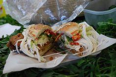 Cemita sandwich as served in Puebla
