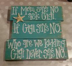 If mom says no ask Gigi. If Gigi says no,  who are we kidding. .. Gigi never says no. Turquoise with starfish.