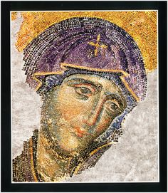 Byzantine Mosaic of the Virgin Mary,Constantinopole Turkey