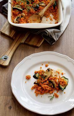 Kuchnia Nastrojowa: Kasza jaglana w aromatycznym sosie pomidorowym Vegan Recipes, Vegan Food, Nom Nom, Curry, Paleo, Meat, Chicken, Cooking, Ethnic Recipes