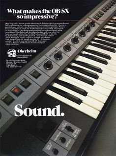 Oberheim OB-SX Anzeige 1981