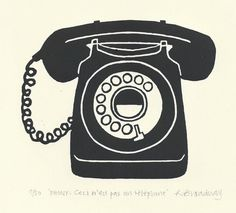 Retro telephone by ruthbroadway on Etsy