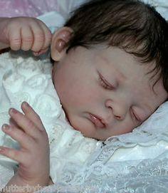 flutterby hearts reborns Tamara auty reborn baby girl brown hair fake baby beautiful Tanya Gudrun legler