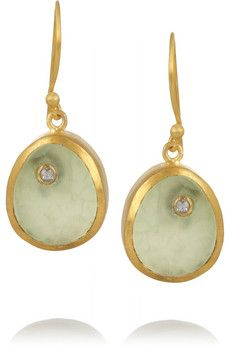 Didi Jewellery Starbright matte gold-plated prehnite earrings   THE OUTNET