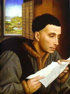 Rogier van der Weyden:  Man Reading, 1450