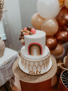 Bohemian Birthday Party, 1st Birthday Party For Girls, 1st Birthday Decorations, Cute Birthday Gift, Rainbow Birthday Party, Baby Birthday, Birthday Party Themes, Birthday Ideas, Castle Birthday Cakes