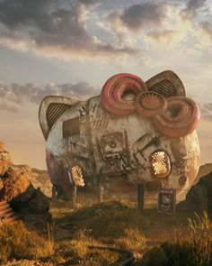 Tagged with art, awesome, pop culture, pop art; Pop Culture Post Apocalyptic by Filip Hodas Cultura Pop, Fantasy Kunst, Fantasy Art, 3d Modelle, Space Invaders, Inspiration Art, Art Series, Geek Art, Geek Culture