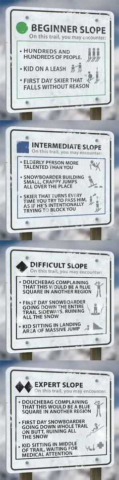 Skiers, be aware.  -A