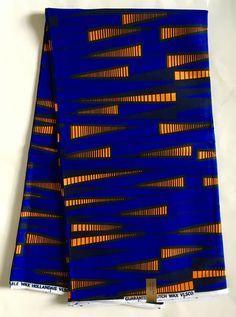 House of Mami Wata African Print Fabrics https://www.etsy.com/listing/512938527/african-print-fabric-ankara-blue-orange
