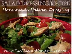 Homemade Salad Dressing Recipe - Italian Dressing | The Simple Homemaker