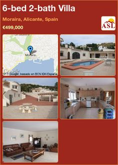 6-bed 2-bath Villa in Moraira, Alicante, Spain ►€499,000 #PropertyForSaleInSpain