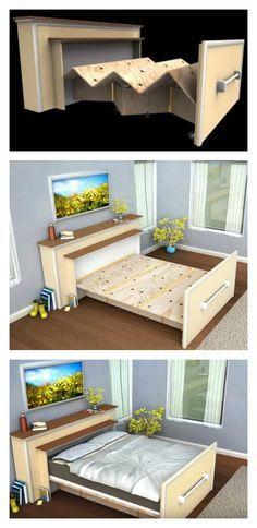 Construir un DIY incorporado Roll-cama para ahorrar espacio