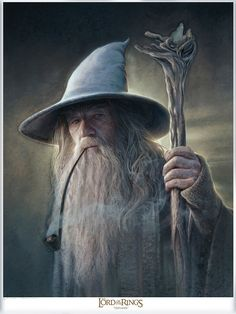 "(BOM) Gandalf "" Mithrandir"" by Jerry Vanderstelt Hobbit Art, O Hobbit, Aragorn, Legolas, Gandalf Tattoo, Tattoo Guerreiro, Arte Game Of Thrones, Game Of Thrones Characters, Movie Posters"