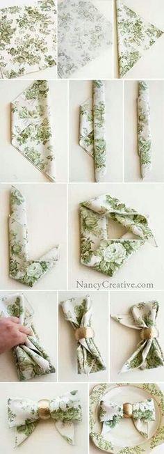 Pretty place setting ideas...linen napkins