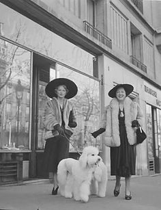 """""""Why of course we're going to the Poodle Peace Parade. It's one of the Season's must-attend events."""""""