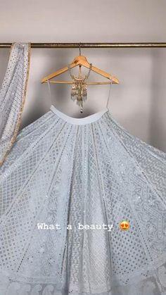 Indian Gowns Dresses, Indian Fashion Dresses, Indian Designer Outfits, Indian Bridal Outfits, Indian Bridal Fashion, Stylish Dress Designs, Stylish Dresses, Simple Lehenga, Wedding Lehenga Designs