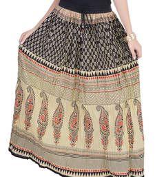 Buy Cotton Printed Long Skirt skirt online