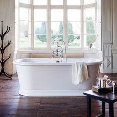 Burlington London Round Soaking Tub - at Victorian Plumbing UK - Pauline Batty - Soaking Tubs Luxury Bathtub, Free Standing Bath, Soaking Tub, Home, Victorian Bathroom, Bathroom Solutions, Tub, Large Bathrooms, Bath Screens