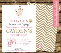 Hey, I found this really awesome Etsy listing at https://www.etsy.com/listing/189094635/kitty-cat-invitation-suite-glitter