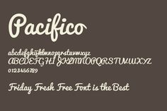 Pacifico font #typography