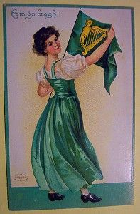 Happy St. Patrick's Day -- old vintage cards and historical facts.