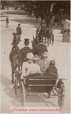 Passeggiata alle Cascine verso il 1920 o forse prima. #Firenze.