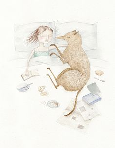 Perfect Sunday    This reminds me of my dog and me at night :)
