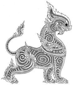 Visit the post for more. Thailand Art, Thailand Tattoo, Khmer Tattoo, Thai Tattoo, Thai Art, Tattoo Project, Indian Art, Thai Pattern, Thai Design