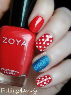 Zoya Nail Polish, Zoya Nail Care Treatments and Zoya Hot Lips Lip Gloss: Fun Fourth Of July Nail Art With Zoya Nail Polish!