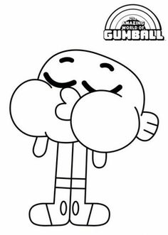 Disney Coloring Pages, Coloring Pages For Kids, Coloring Books, Cute Cartoon Drawings, Cartoon Posters, World Of Gumball, Drawing Techniques, Darwin, Tattoo Sketches