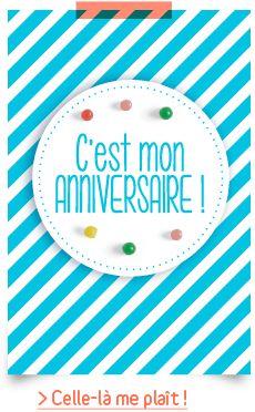 Cartes d'anniversaire prêtes à imprimer : cliquez, coupez, pliez, complétez et envoyez-les à ses petits invités ! - www.vertbaudet.fr