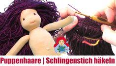 Puppenhaare im Schlingenstich häkeln | Sami Doll Tutorials …