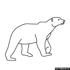 Free Coloring Page Of A Polar Bear Color In This Picture And Share It With Others Today