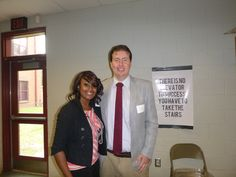 #Lawyer Evan Guthrie with Dasiree Manigault, Paralegal Intern at Evan Guthrie Law Firm at the St. Johns High School Career Symposium at St Johns High School in Johns Island, SC on Thursday March 27th 2014