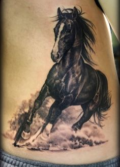 Running Horses Tattoo