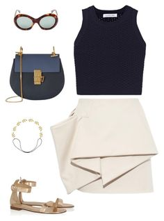 """""""High (by the beach)"""" by mechi13 on Polyvore featuring moda, Marc by Marc Jacobs, Elizabeth and James, Gianvito Rossi, Chloé, Eddera y Oliver Goldsmith"""