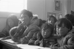 41 Photos Of The Inuit Before And After Canada Wiped Out Their Culture Inuit People, Canada, School Lessons, Classroom, Community, Culture, Education, Black And White, Couple Photos