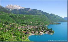Lac d'Annecy et Talloires vus du Roc de Chère