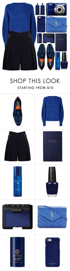 """Geen titel #2405"" by a-a-nica ❤ liked on Polyvore featuring Santoni, Zimmermann, Smythson, Acqua di Parma, OPI, NARS Cosmetics, Yves Saint Laurent, Versace, Aspinal of London and Oscar de la Renta"