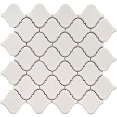Perfect tile for bathroom floor. Home Depot Merola Tile Lantern Matte White in. Porcelain Mosaic Floor and Wall Tile sq. Mosaic Tile Sheets, Bath Tiles, Bathroom Floor Tiles, Mosaic Tiles, Tile Bathrooms, Basement Bathroom, Wall Tile, Small Bathroom, Decoration Inspiration