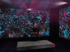 Flicker  Jon McCormack and Oliver Bown, Flicker,  audio visual installation, 2010